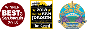 Winner Best of San Joaquin and Readers Choice Logos