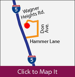Interstate 5 directions to O'Connor Woods